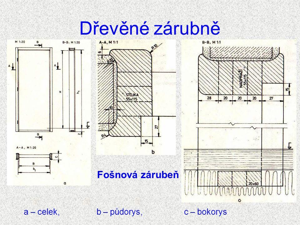Dřevěné zárubně Obr. 8. Fošnová zárubeň