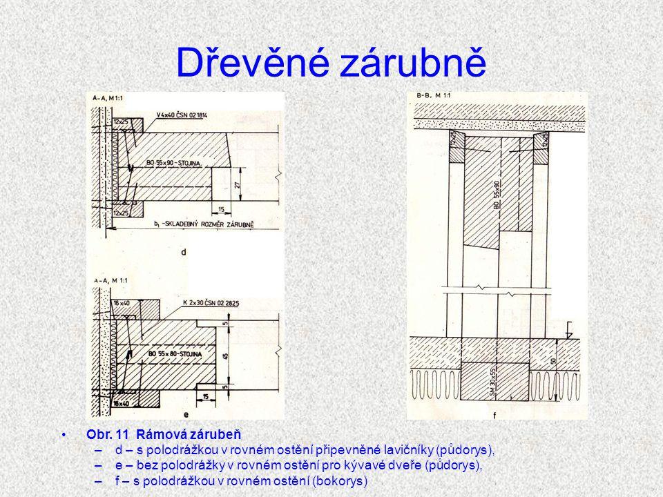 Dřevěné zárubně Obr. 11 Rámová zárubeň
