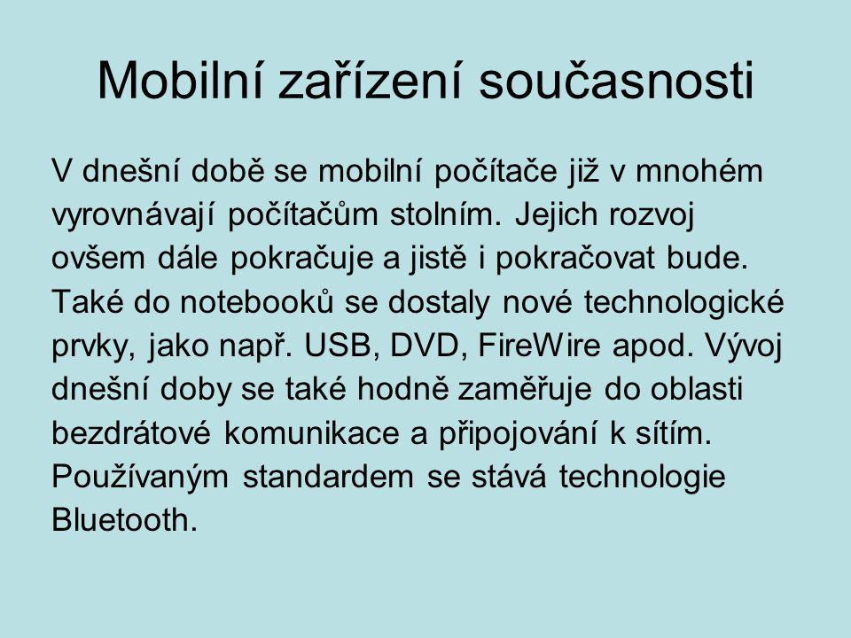 Mobilní zařízení současnosti