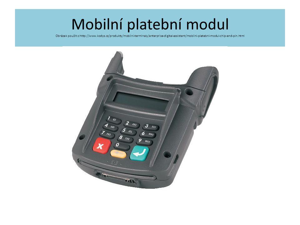Mobilní platební modul Obrázek použit z:http://www. kodys
