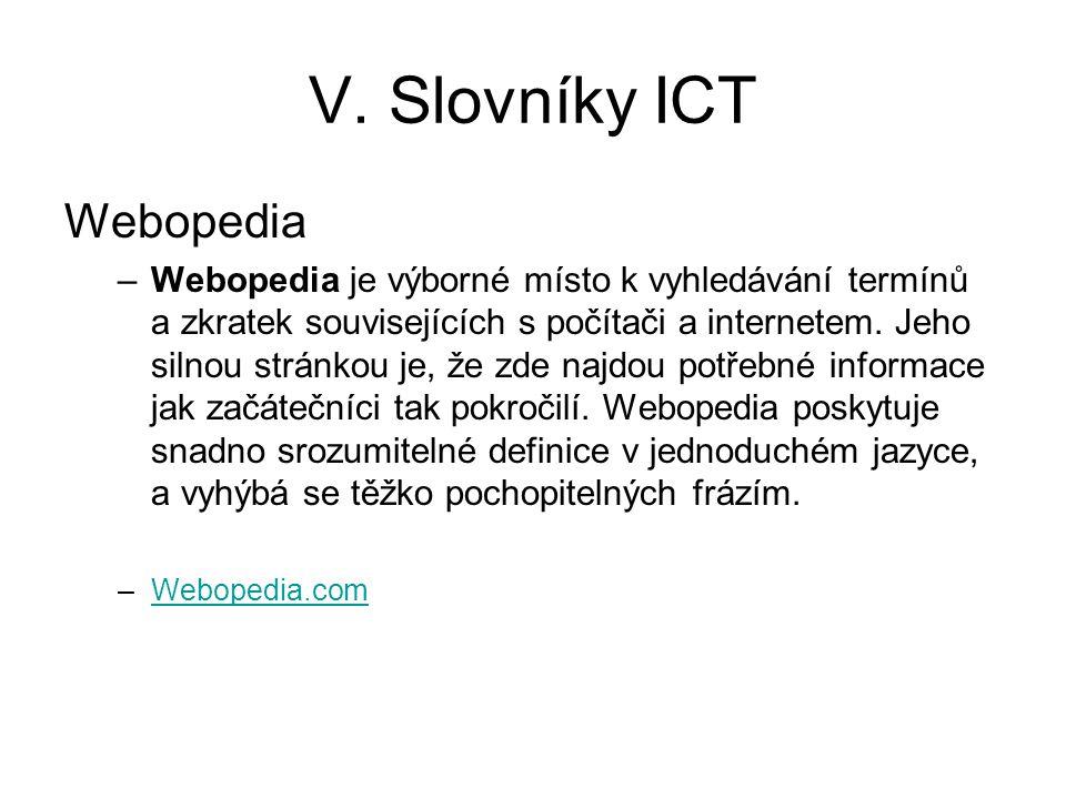 V. Slovníky ICT Webopedia