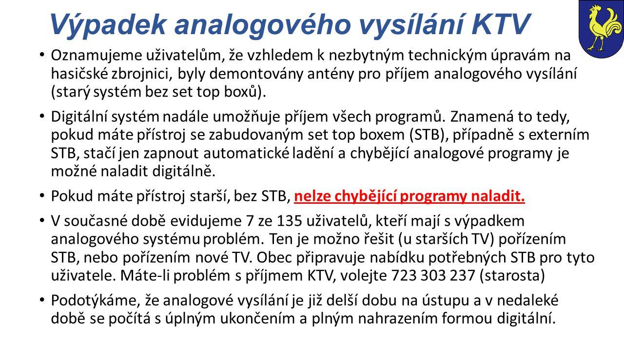 Výpadek analogového vysílání KTV