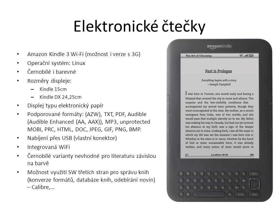 Elektronické čtečky Amazon Kindle 3 Wi-Fi (možnost i verze s 3G)