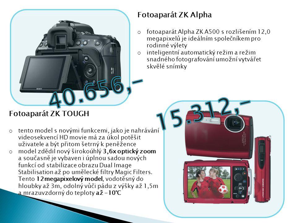 40.656,- 15.312,- Fotoaparát ZK Alpha Fotoaparát ZK TOUGH