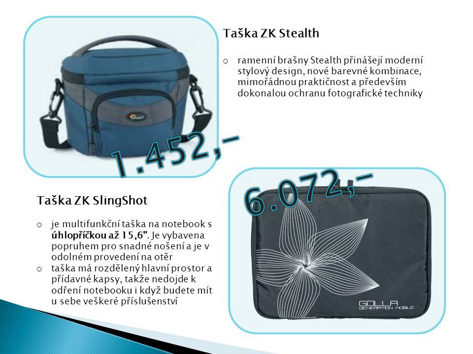 1.452,- 6.072,- Taška ZK Stealth Taška ZK SlingShot