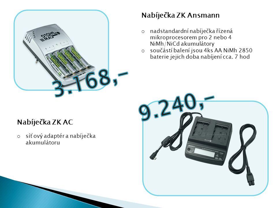 3.168,- 9.240,- Nabíječka ZK Ansmann Nabíječka ZK AC