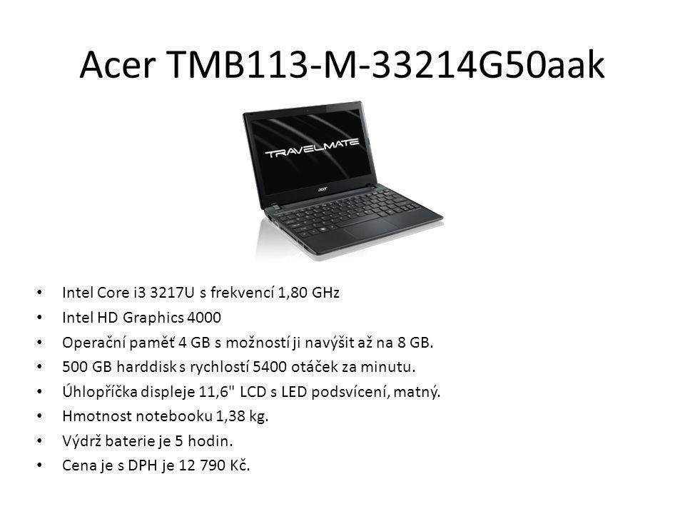 Acer TMB113-M-33214G50aak Intel Core i3 3217U s frekvencí 1,80 GHz