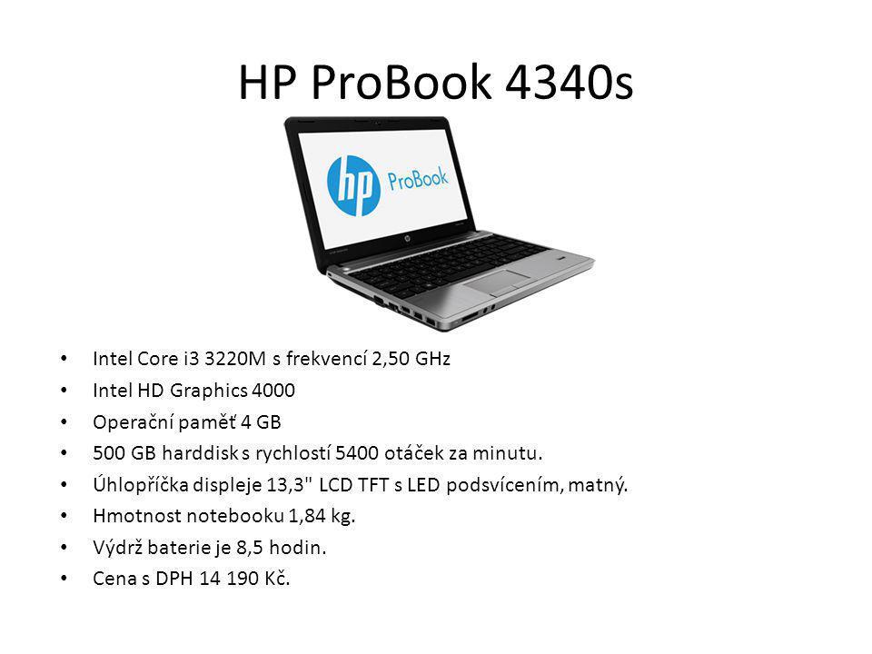 HP ProBook 4340s Intel Core i3 3220M s frekvencí 2,50 GHz