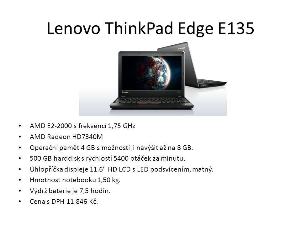 Lenovo ThinkPad Edge E135 AMD E2-2000 s frekvencí 1,75 GHz
