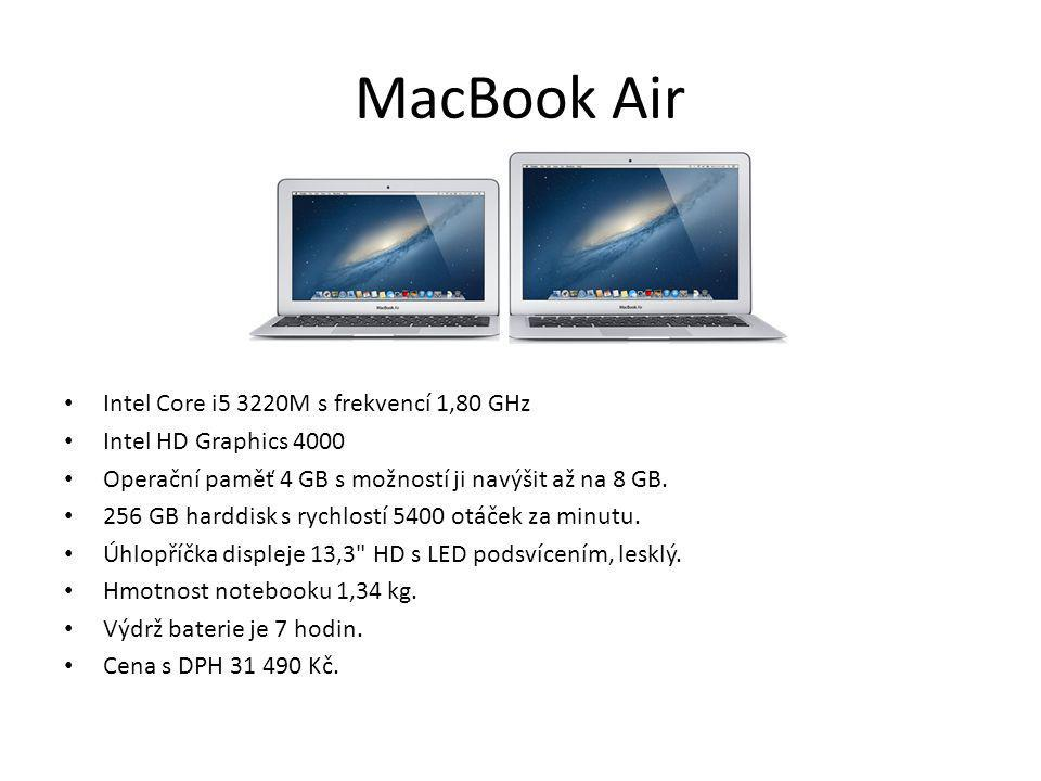 MacBook Air Intel Core i5 3220M s frekvencí 1,80 GHz