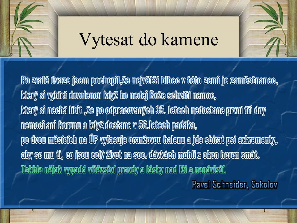 Vytesat do kamene