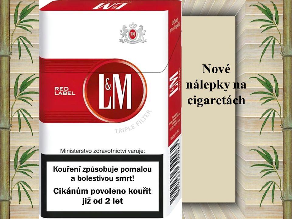 Nové nálepky na cigaretách