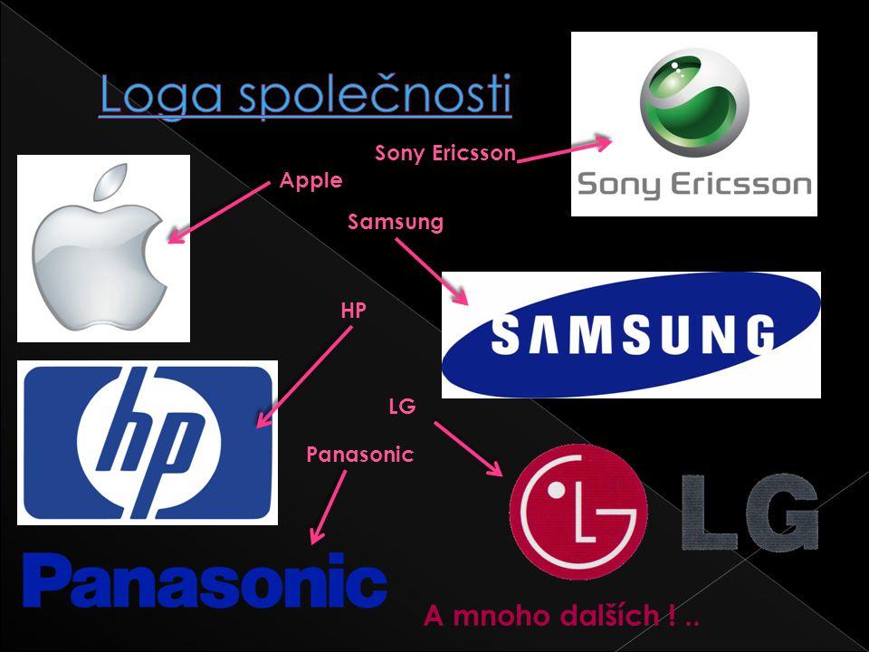Loga společnosti A mnoho dalších ! .. Sony Ericsson Apple Samsung HP