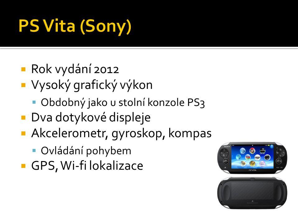 PS Vita (Sony) Rok vydání 2012 Vysoký grafický výkon