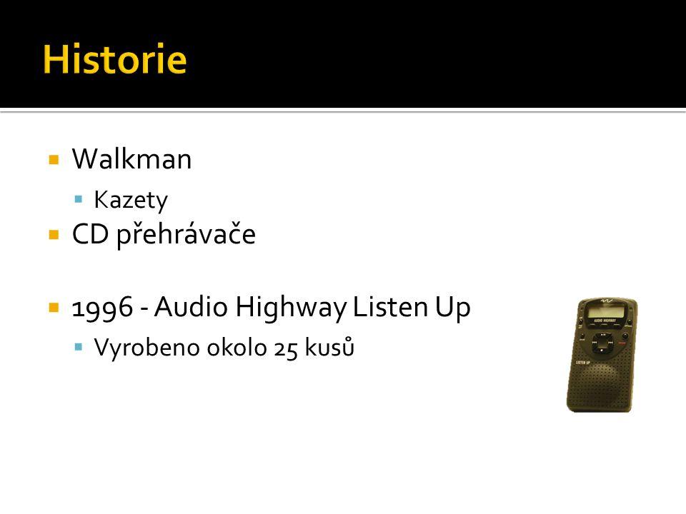 Historie Walkman CD přehrávače 1996 - Audio Highway Listen Up Kazety