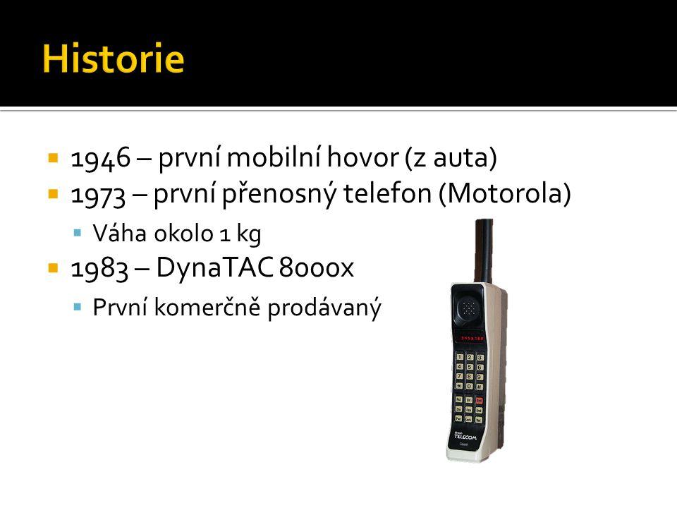 Historie 1946 – první mobilní hovor (z auta)
