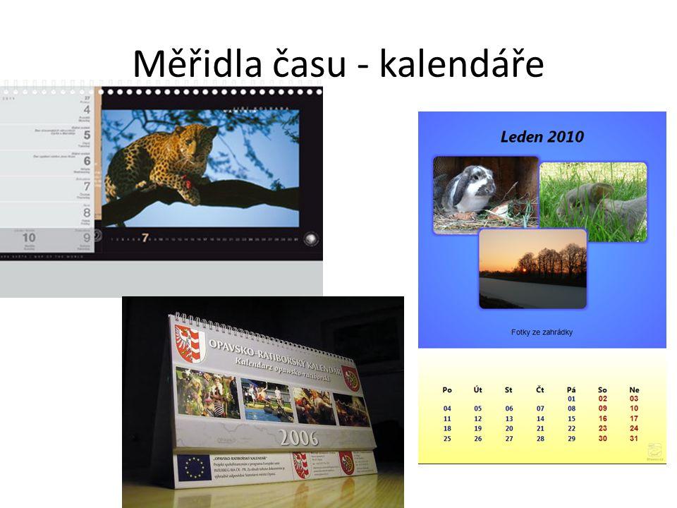 Měřidla času - kalendáře
