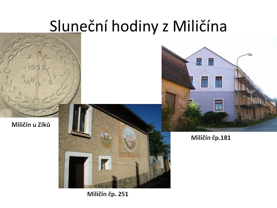 Sluneční hodiny z Miličína
