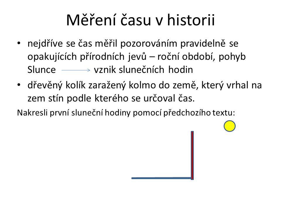 Měření času v historii