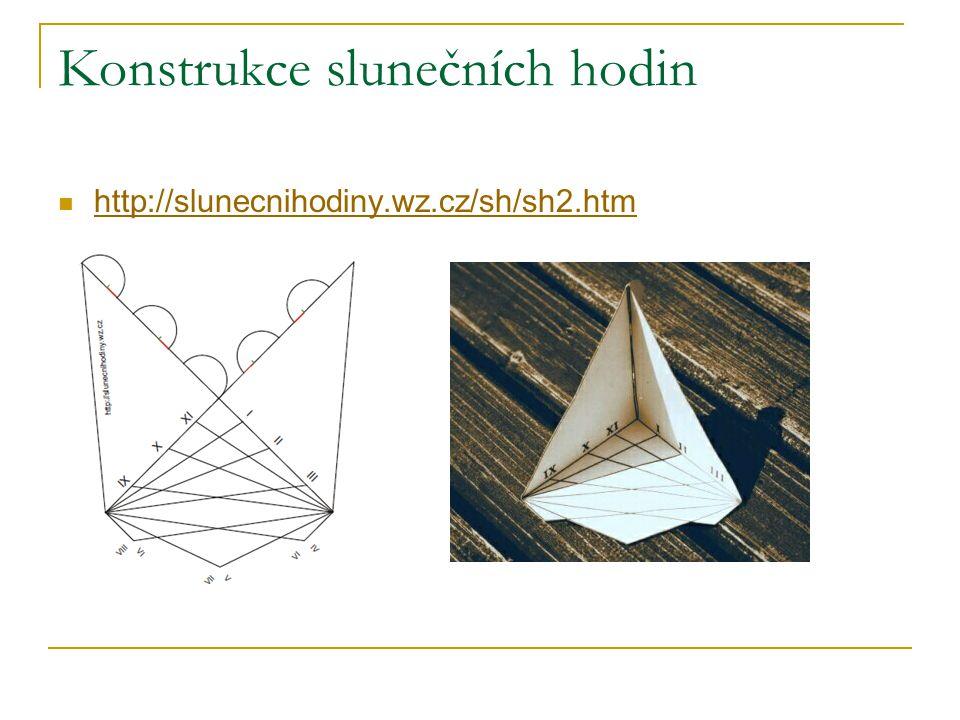 Konstrukce slunečních hodin