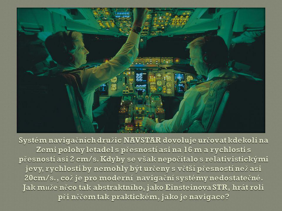 Systém navigačních družic NAVSTAR dovoluje určovat kdekoli na Zemi polohy letadel s přesností asi na 16 m a rychlosti s přesností asi 2 cm/s.