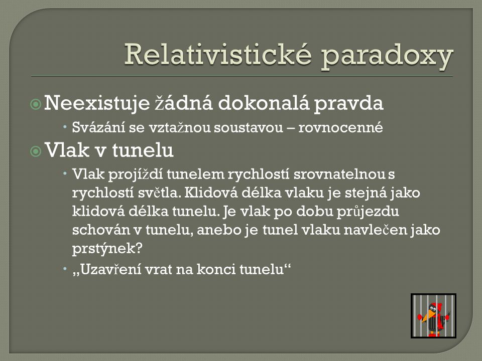 Relativistické paradoxy
