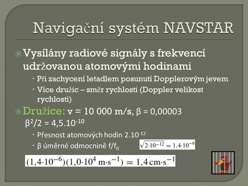 Navigační systém NAVSTAR