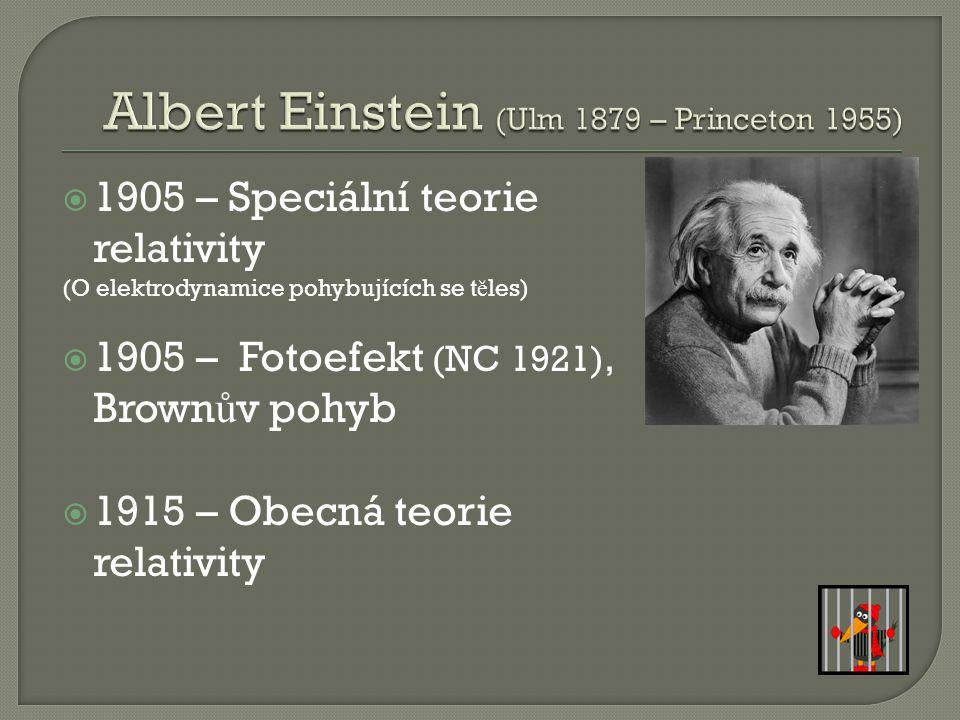 Albert Einstein (Ulm 1879 – Princeton 1955)