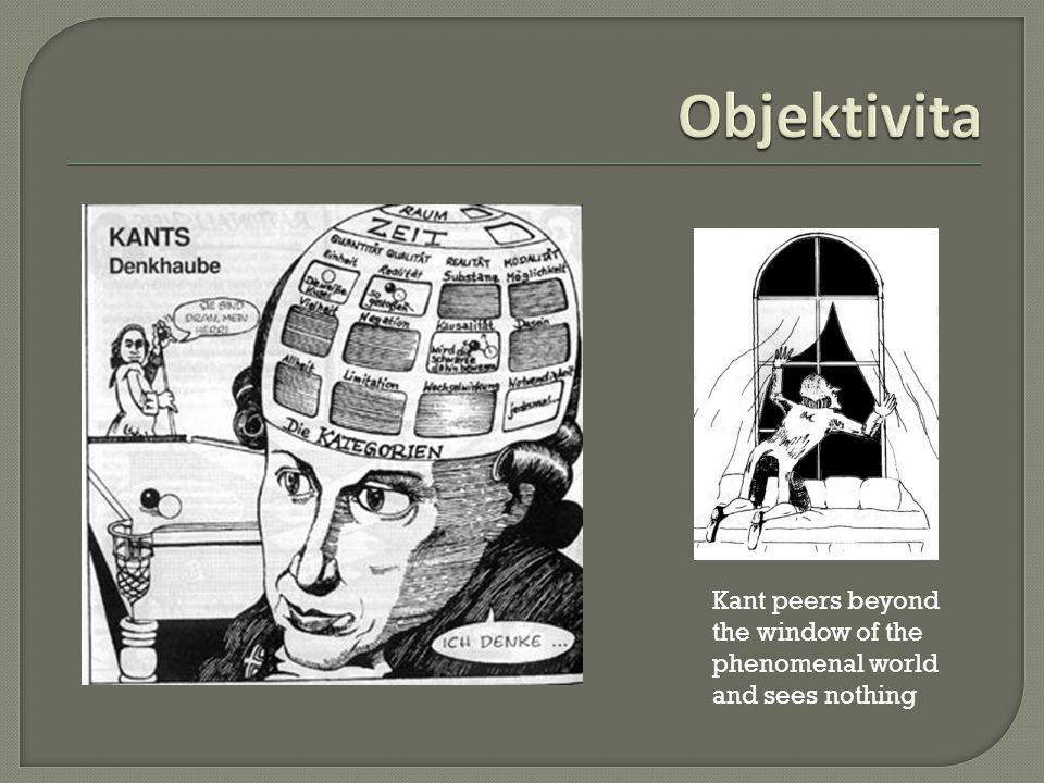 Objektivita Kant peers beyond the window of the phenomenal world and sees nothing