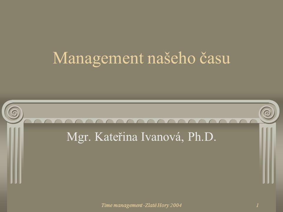 Management našeho času