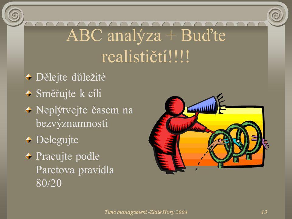 ABC analýza + Buďte realističtí!!!!