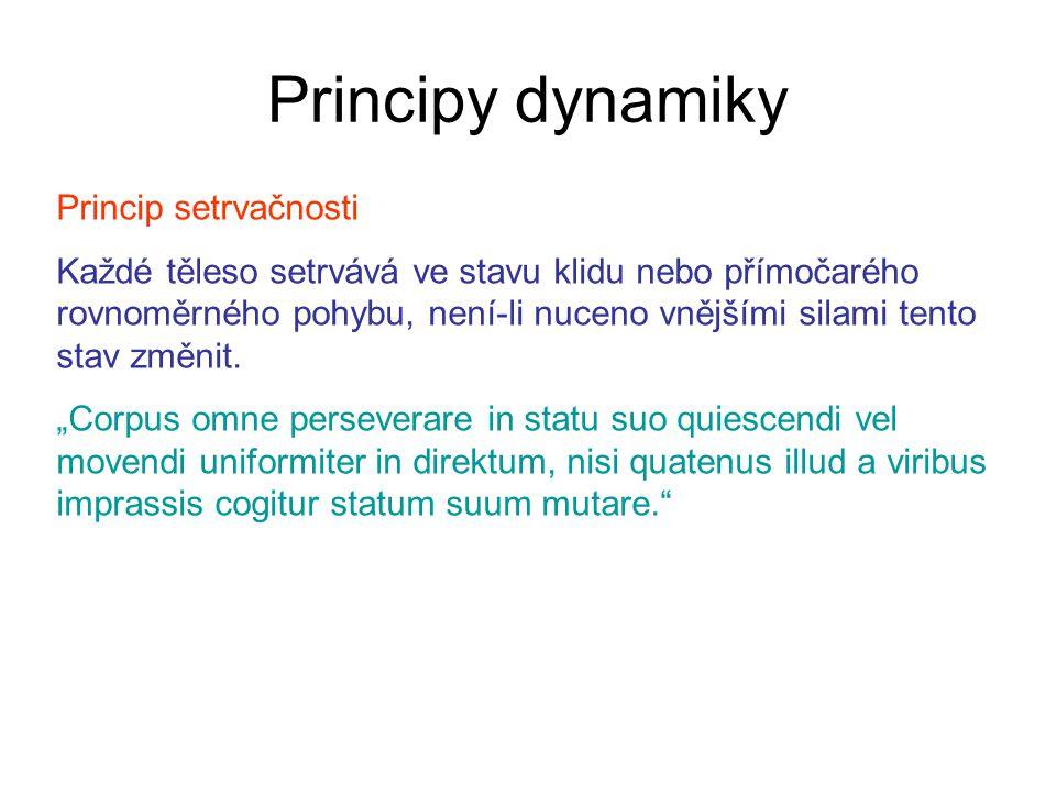 Principy dynamiky Princip setrvačnosti