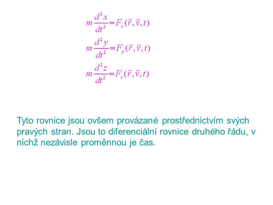 Tyto rovnice jsou ovšem provázané prostřednictvím svých pravých stran