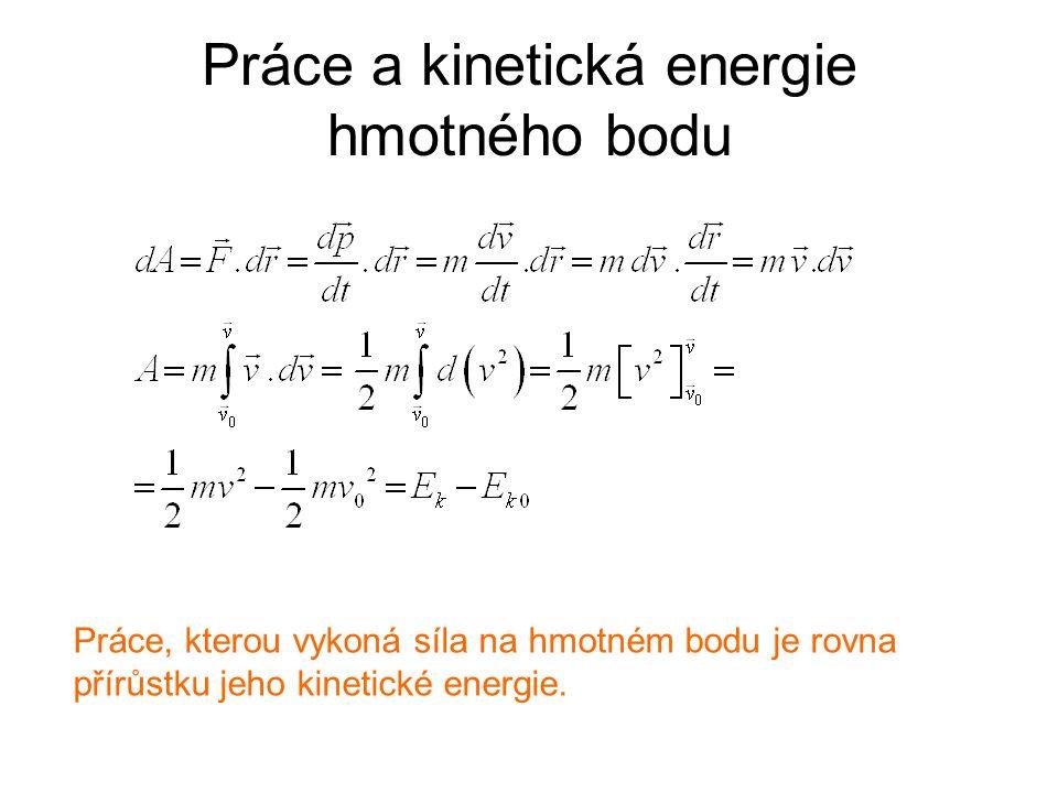 Práce a kinetická energie hmotného bodu