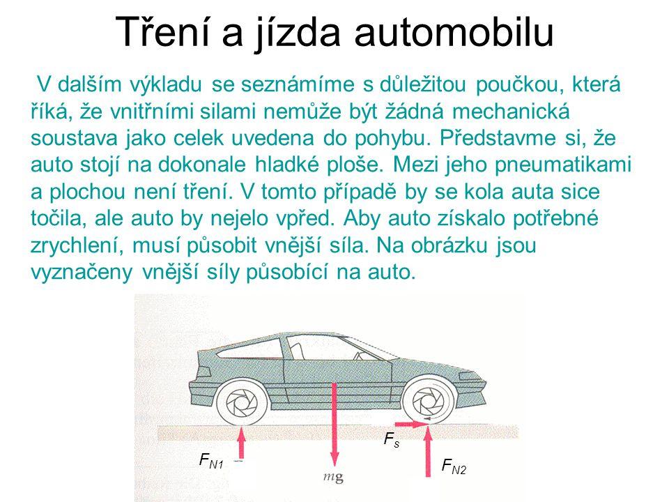 Tření a jízda automobilu
