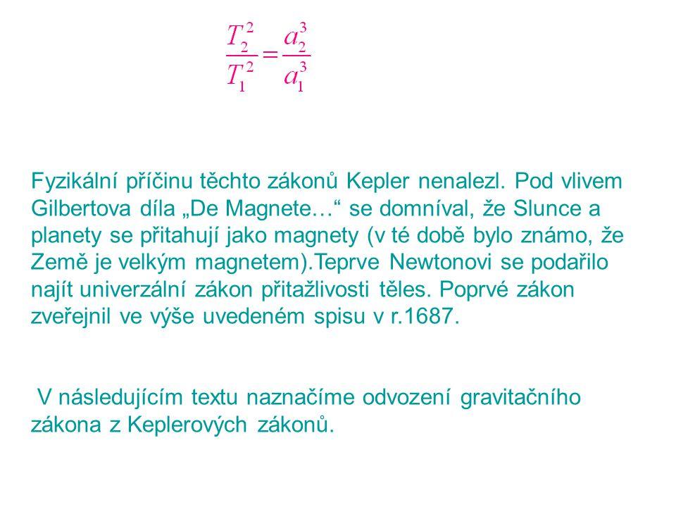 Fyzikální příčinu těchto zákonů Kepler nenalezl