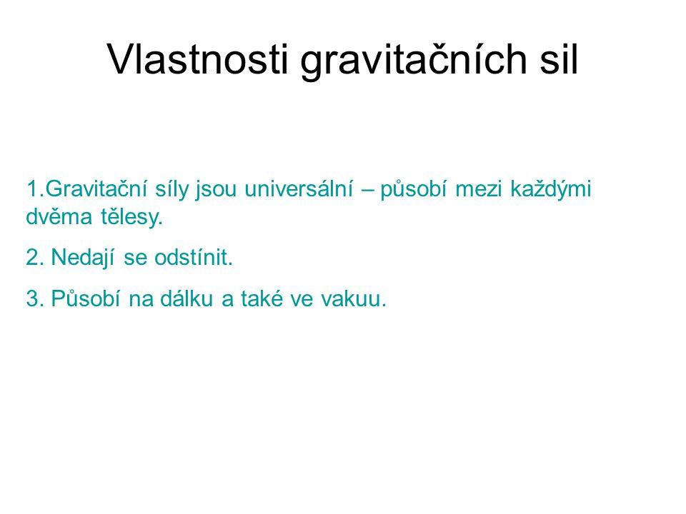 Vlastnosti gravitačních sil