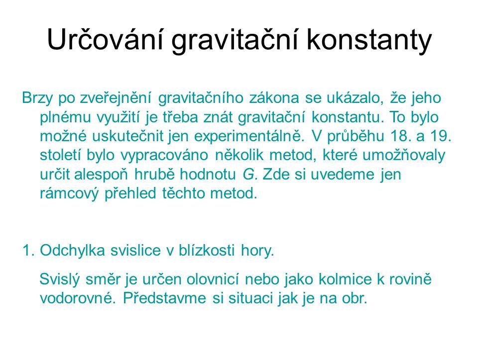 Určování gravitační konstanty