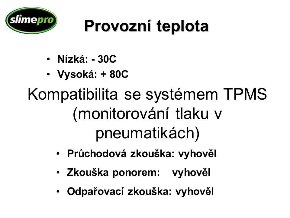 Kompatibilita se systémem TPMS (monitorování tlaku v pneumatikách)