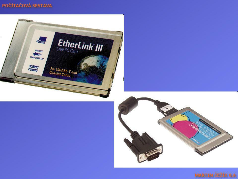PCMCIA karty – Ethernetová a se sériovým konektorem