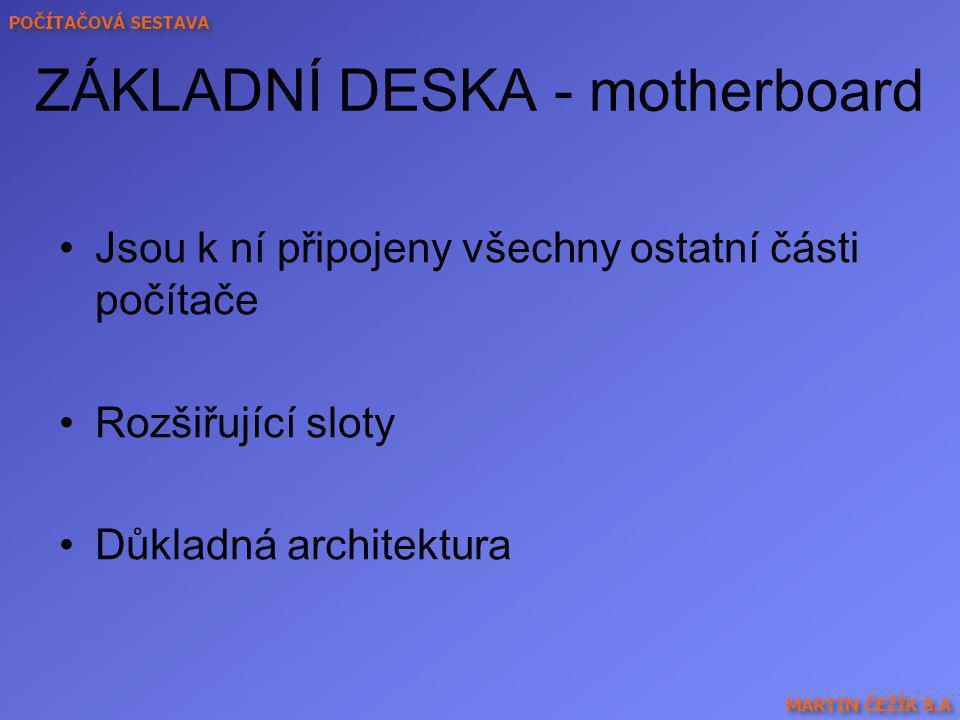 ZÁKLADNÍ DESKA - motherboard