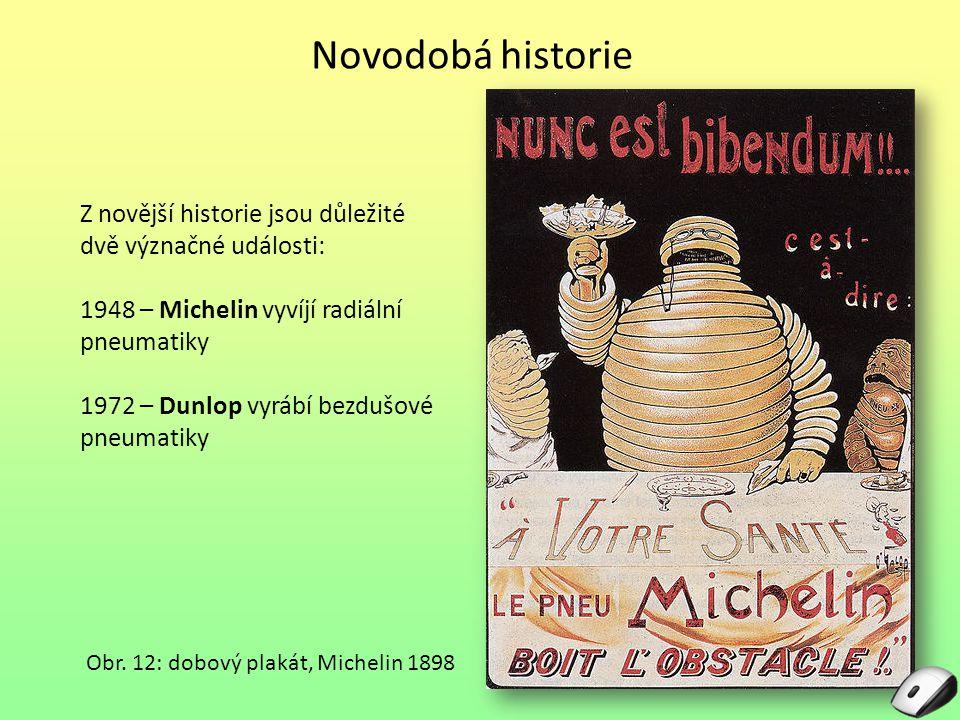 Novodobá historie Z novější historie jsou důležité dvě význačné události: 1948 – Michelin vyvíjí radiální pneumatiky
