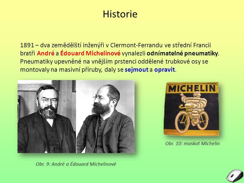 Obr. 9: André a Édouard Michelinové