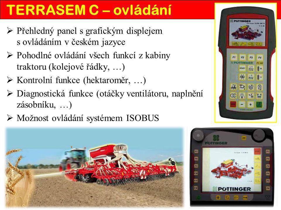 TERRASEM C – ovládání Přehledný panel s grafickým displejem s ovládáním v českém jazyce.