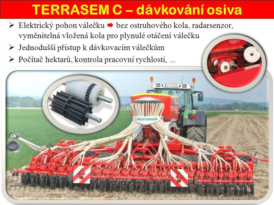 TERRASEM C – dávkování osiva