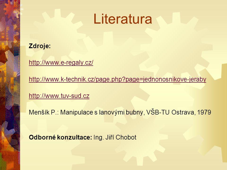 Literatura Zdroje: http://www.e-regaly.cz/