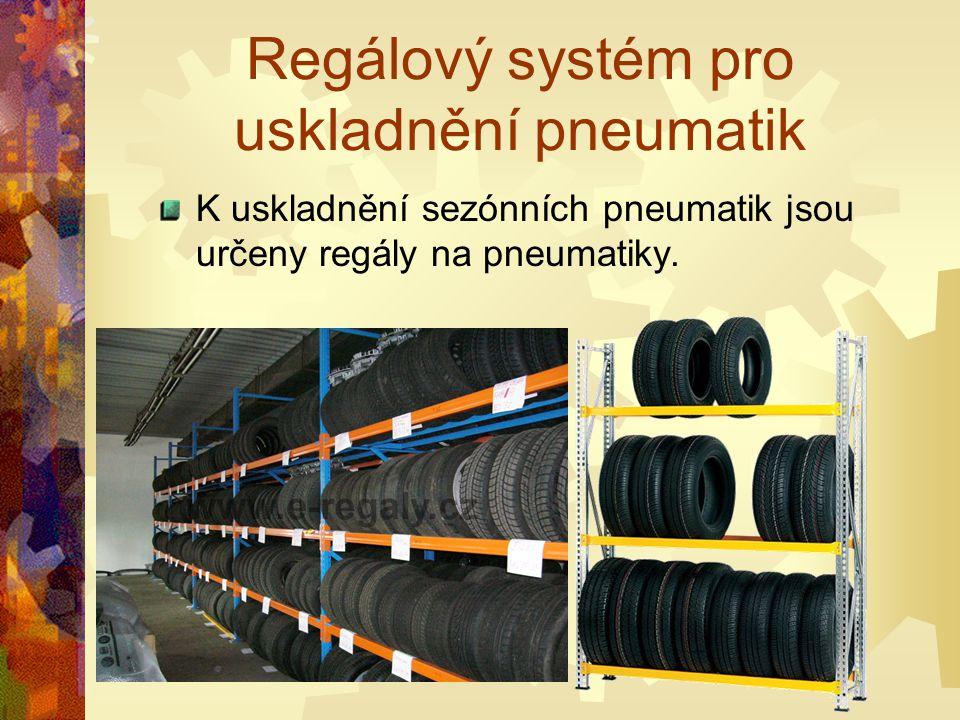 Regálový systém pro uskladnění pneumatik