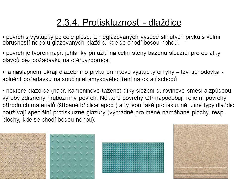 2.3.4. Protiskluznost - dlaždice