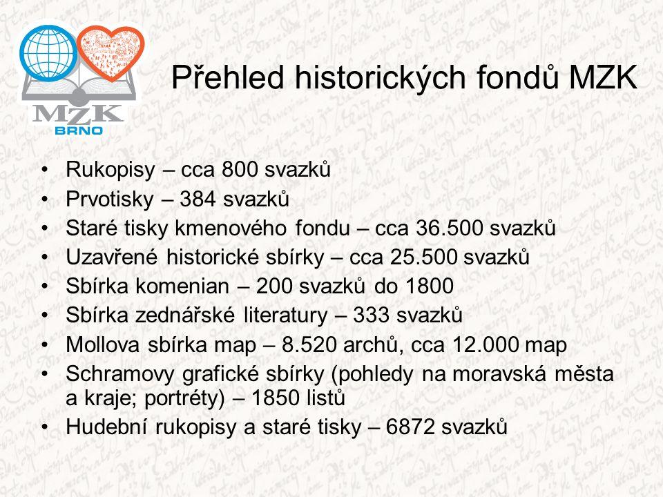 Přehled historických fondů MZK