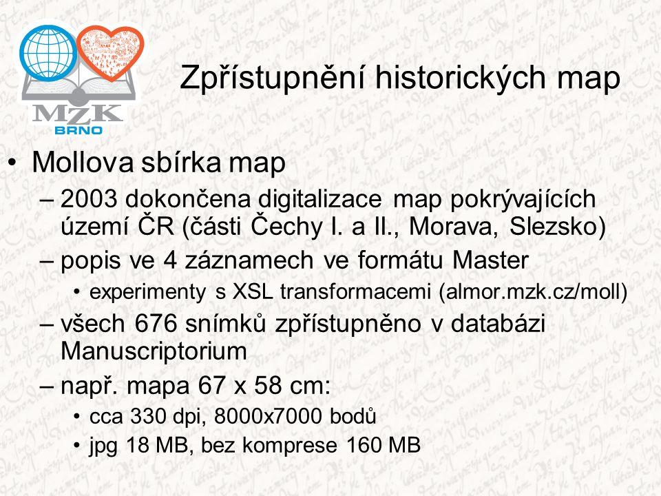 Zpřístupnění historických map